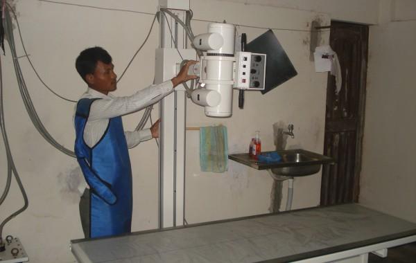 Un radiografo all'ospedale Garo
